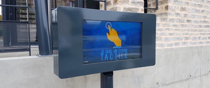 Nouvel écran d'affichage tactile – Mairie d'Etrelles -35