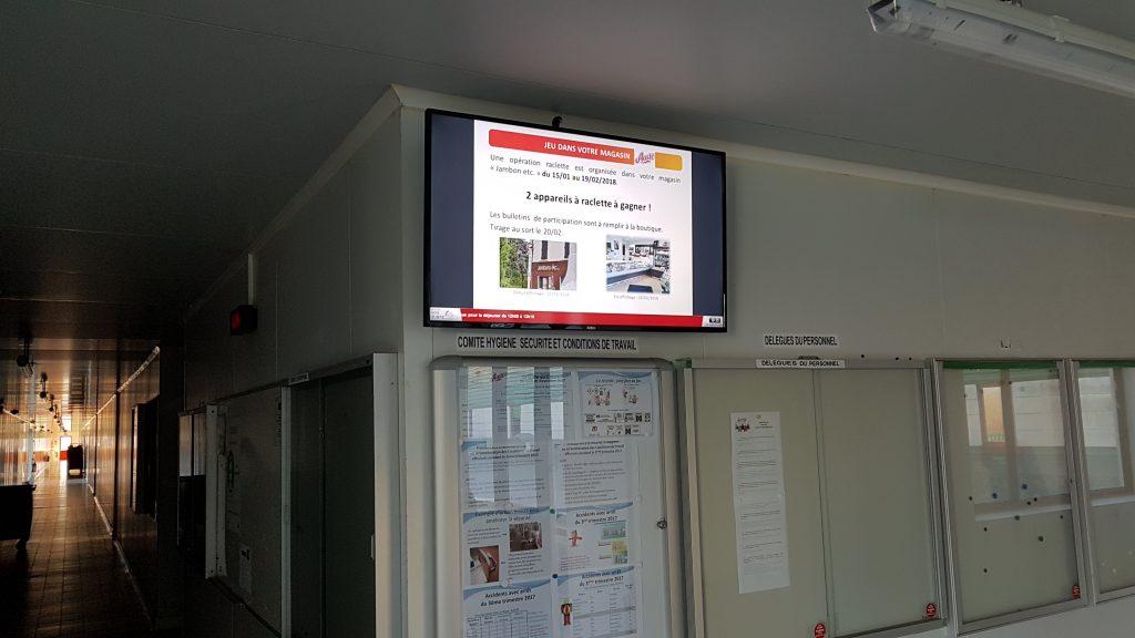 ecran couloir affichage dynamique