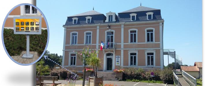 Mairie de Lit et Mixe : de l'affichage papier à l'affichage numérique