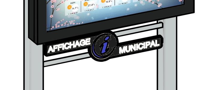 Nouveau support ADTM – écran tactile extérieur Collectivités locales